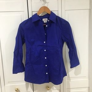 J. Crew 3/4 Sleeved Solid Button Down Shirt
